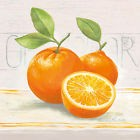 Claudia Ancilotti: Sweet Orange Tableau de toile 20x20 mural fruits cuisine