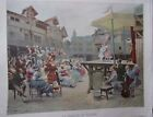 TYPOGRAVURE 1904 FIGARO ILLUSTRE APRES TABLEAU ALONZO PEREZ THEATRE AU VILLAGE
