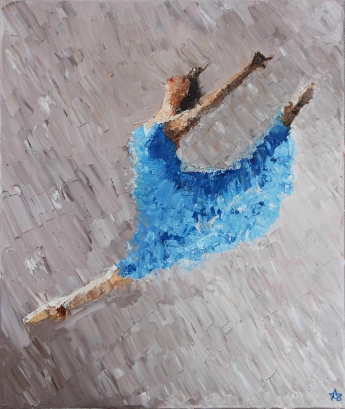 TABLEAU PEINTURE femme danse danseuse ballet - 1ère danseuse étoile