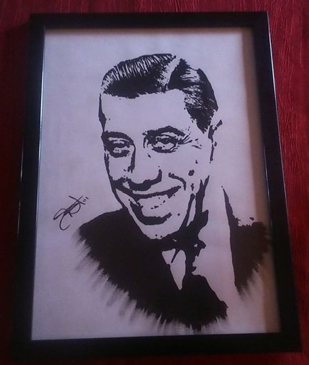 DESSIN Fernandel dessin acrylique portrait de star Star française - Fernandel