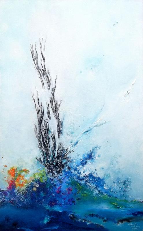 TABLEAU PEINTURE expressionisme abstr peinture abstraite art contemporain abstraction lyrique - Untie