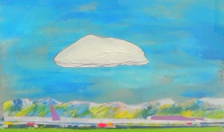 TABLEAU PEINTURE paysage CIEL nuage nuage blanc - SOUS LE NUAGE BLANC