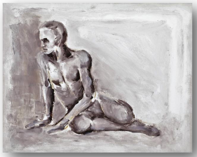 TABLEAU PEINTURE - Nu masculin