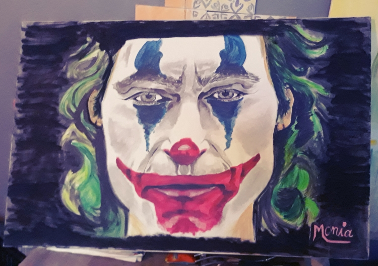 TABLEAU PEINTURE Joker 2019 Joakim phenix Cinema - Joker 2019