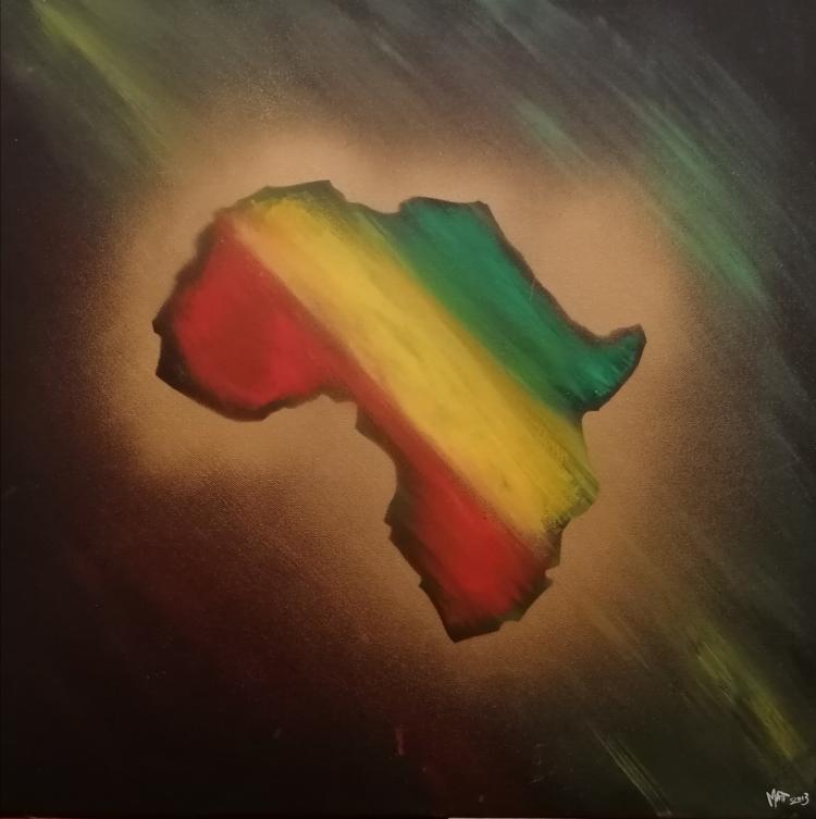 TABLEAU PEINTURE afrique rastafari - Afrika