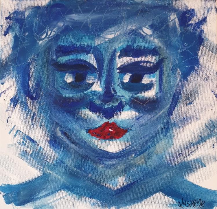 """TABLEAU PEINTURE Visage Autoportrait Portrait - """"Autoportrait"""""""