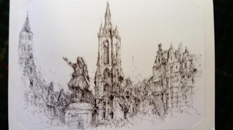 DESSIN Belgique - Sketch in Tournai