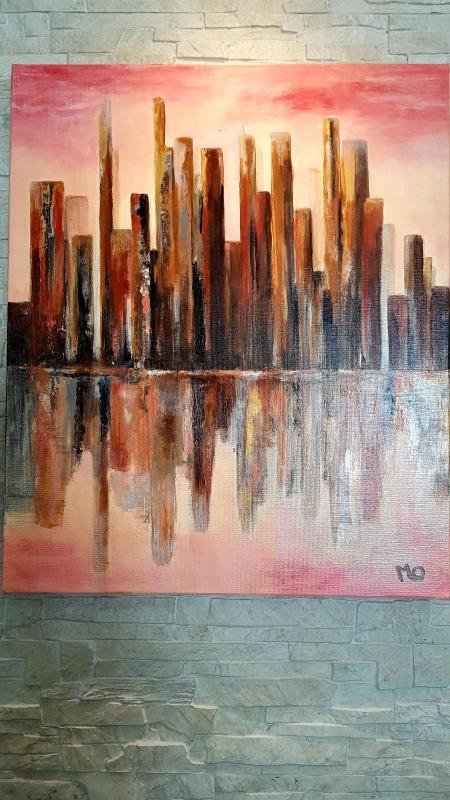 TABLEAU PEINTURE Manhattan Un matin - Manhattan