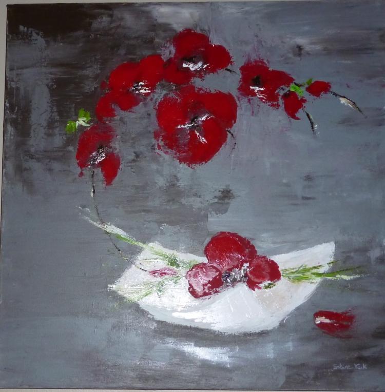 Tableau Peinture Art Orchidées contemporain