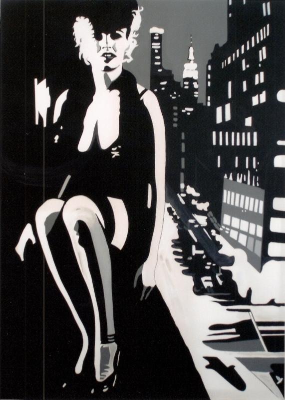 "TABLEAU PEINTURE NEW YORK MAILYN ACTRICE CINEMA - MARILYN "" NEW YORK """