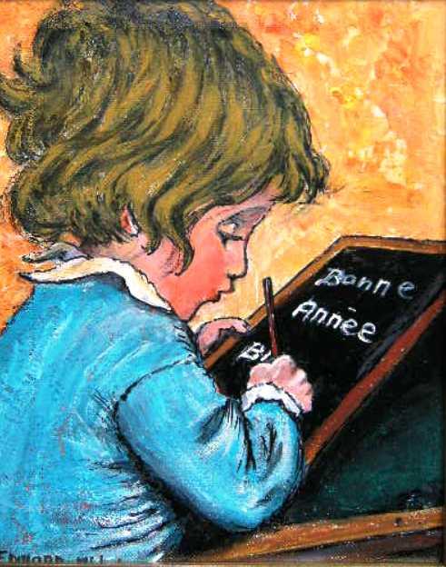 TABLEAU PEINTURE ENFANT ARDOISE ECRITURE - ECRITURE