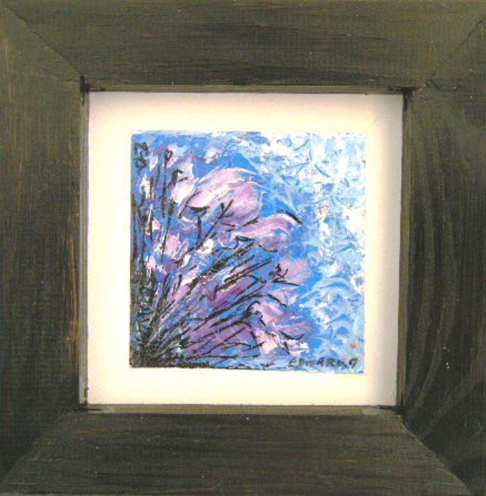 TABLEAU PEINTURE fleur - iris