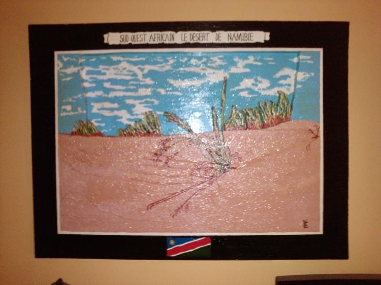 TABLEAU PEINTURE DESERT BOIS NATURE PAYSAGE - N° 81 Désert de Namibie 2