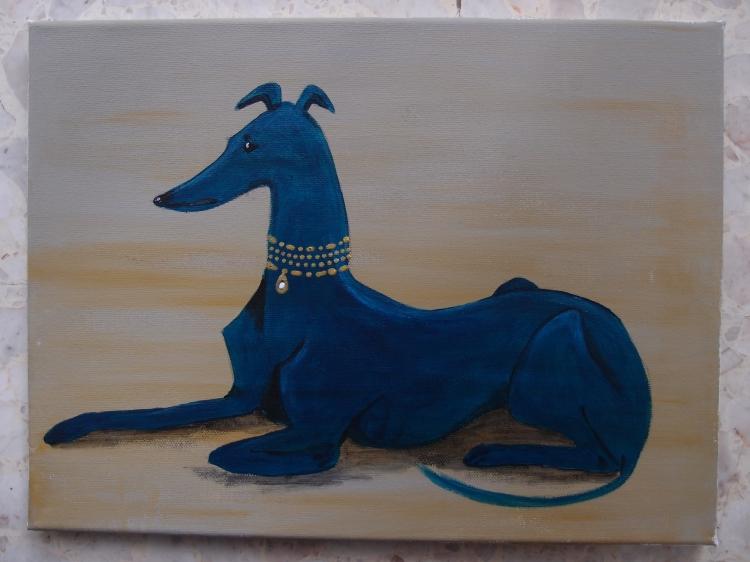TABLEAU PEINTURE chien - Brenda
