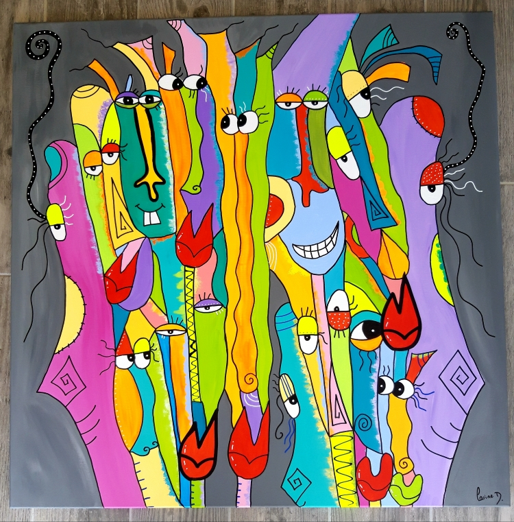 TABLEAU PEINTURE - La joyeuse troupe