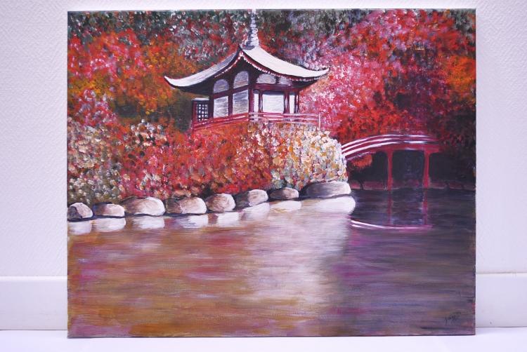 Tableau Peinture Art Peinture Acrylique Paysage Japon Paysages
