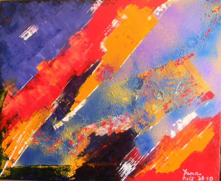 TABLEAU PEINTURE abstrait huile peinture art - Etat d'âme
