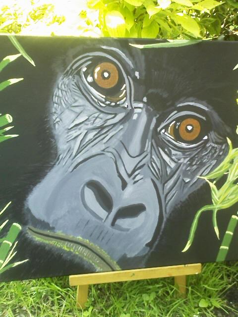 TABLEAU PEINTURE Afrique Gorille animaux nature - Gorille