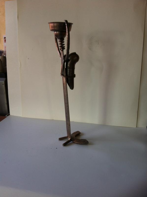 ARTISANAT D'ART sculpture vieux outils pont saint esprit france - Massai et l'enfant