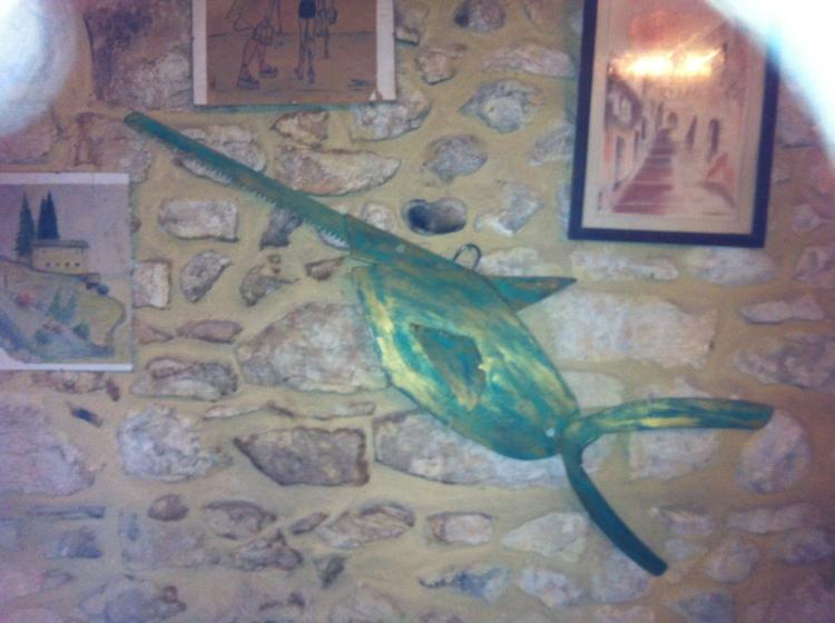 ARTISANAT D'ART gard pont saint esprit sculptures les bruyeres - le poisson scie