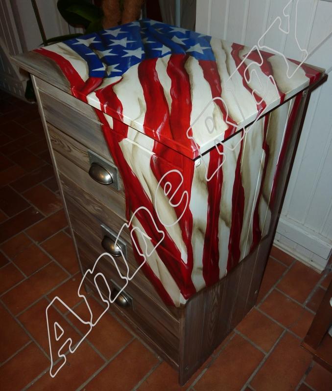 AUTRES USA Amérique Etats Unis drapeau - Chiffonier américa