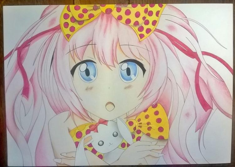Dessin Manga Kawaii Rose Fille Personnages Crayon Kawaii