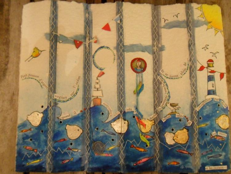 AUTRES poisson or livre artiste - petit poisson d'or