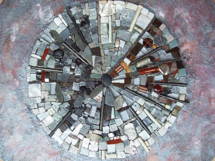 Tableau Peinture Art Abstrait - l'Horloge du temps