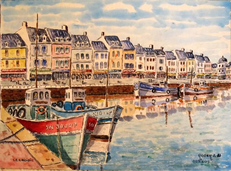 Tableau Peinture Art Marine Aquarelle Le Croisic N 05 Sz 07