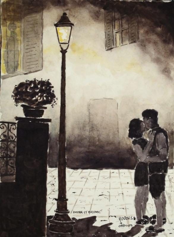 TABLEAU PEINTURE - Amour et brume