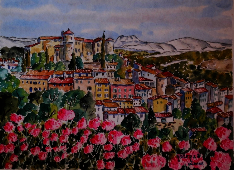 TABLEAU PEINTURE - Callian en Provence 2 N° : 04 DH 02