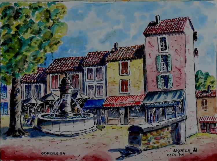 TABLEAU PEINTURE - Gordes en Provence N° : 01 DH 01