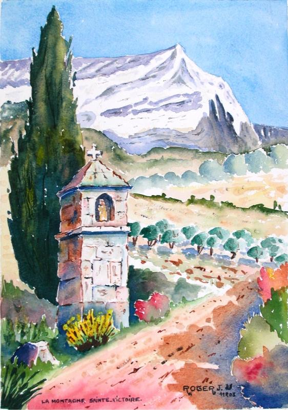TABLEAU PEINTURE - L'Oratoire de La Ste Victoire