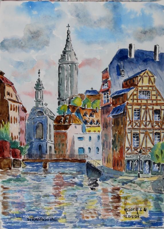 TABLEAU PEINTURE - Strasbourg N° : 12 DS 01