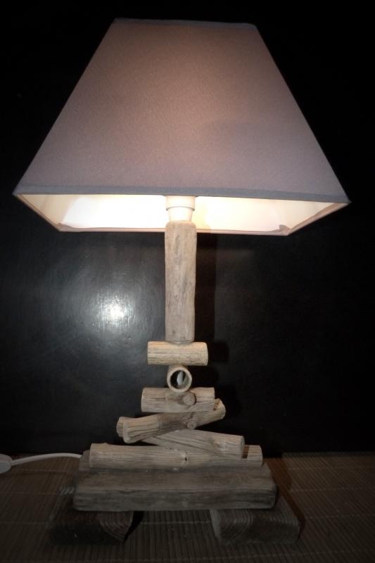 Artisanat D Art Lampe Bois Flotte Cadeau Design Zen