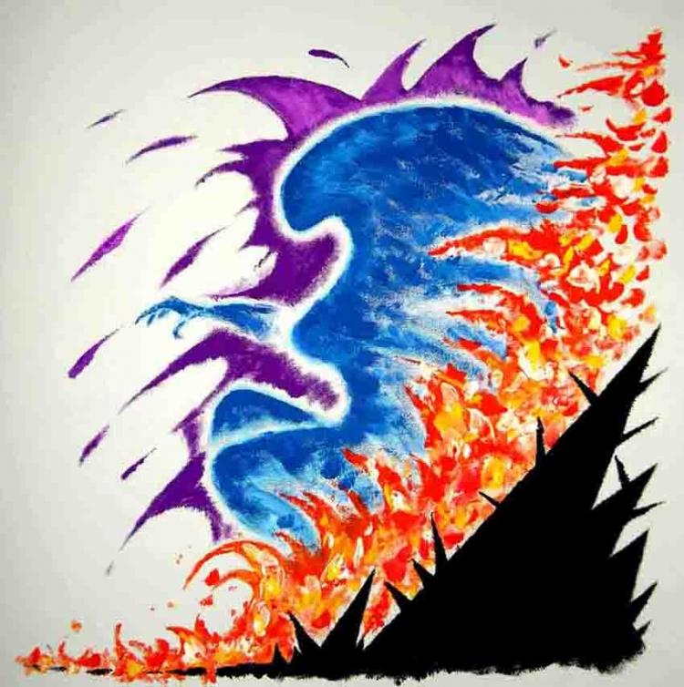 TABLEAU PEINTURE - Phoenix