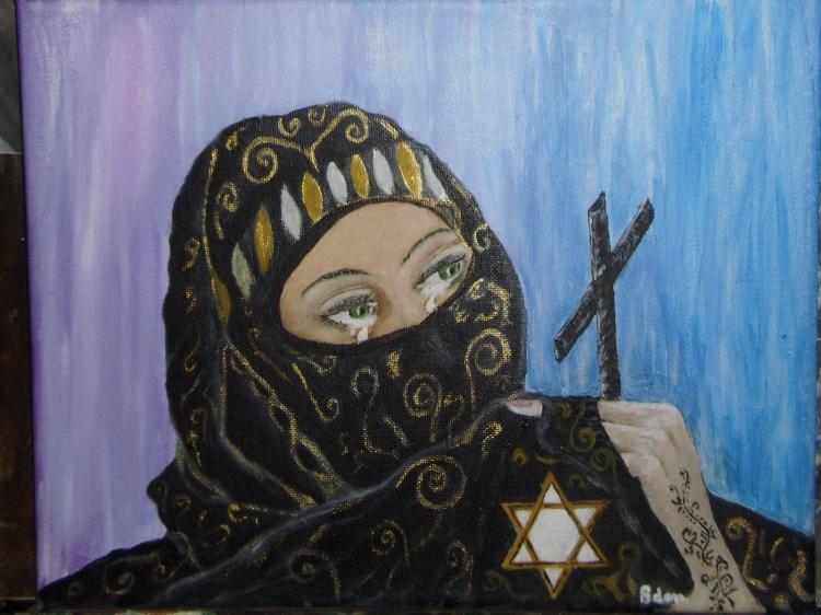 TABLEAU PEINTURE la paix musulmane religions guerre - musulmane la paix