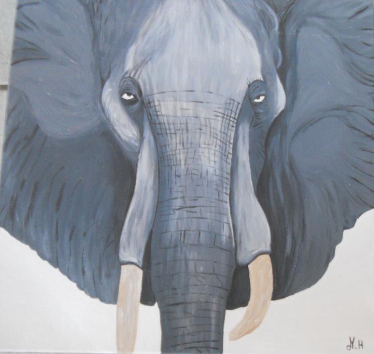TABLEAU PEINTURE - elephant