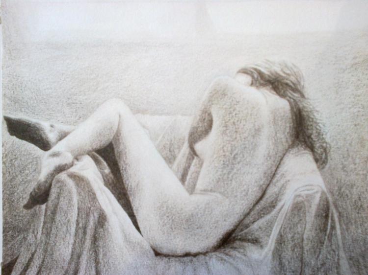 Dessin Nu Femme Noir Et Blanc Lumière Nus Crayon Evasion