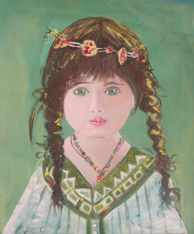 TABLEAU PEINTURE portrait sananda toile achat internet olivier laplace pein - sananda