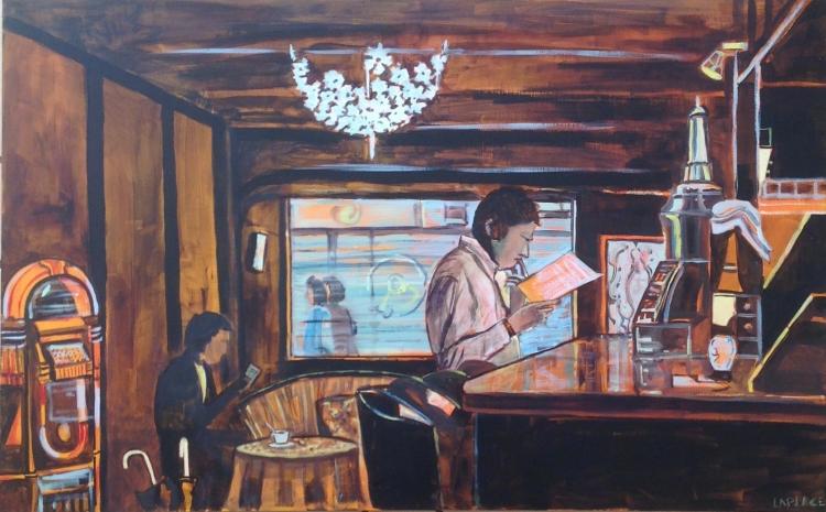 TABLEAU PEINTURE tableau bar ambiance painting bar restaur achat toile ambiance contrejour toulouse  - ambiance bar