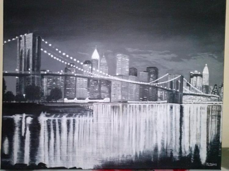Tableau Peinture Art pont Brooklyn Peinture
