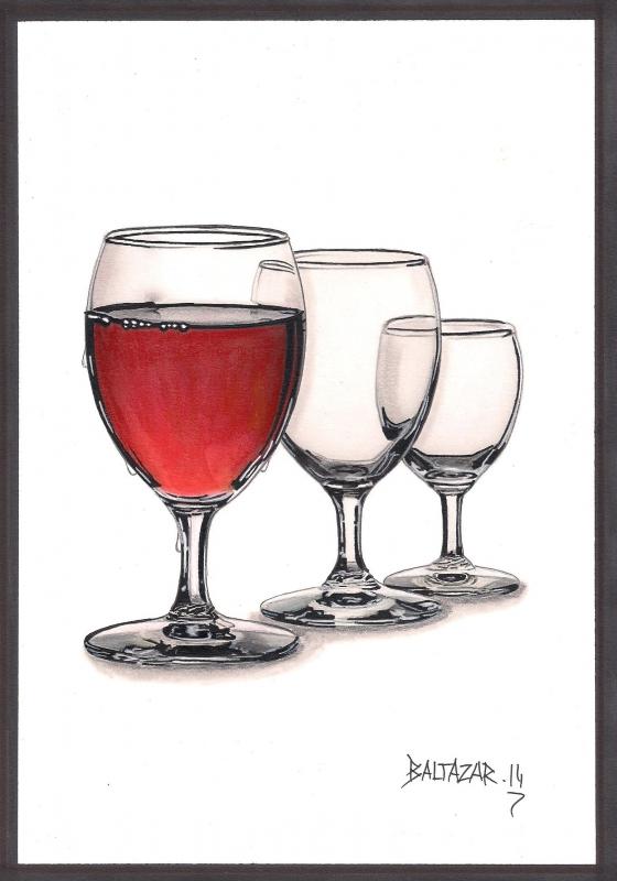 DESSIN verre dessin - verre à vin