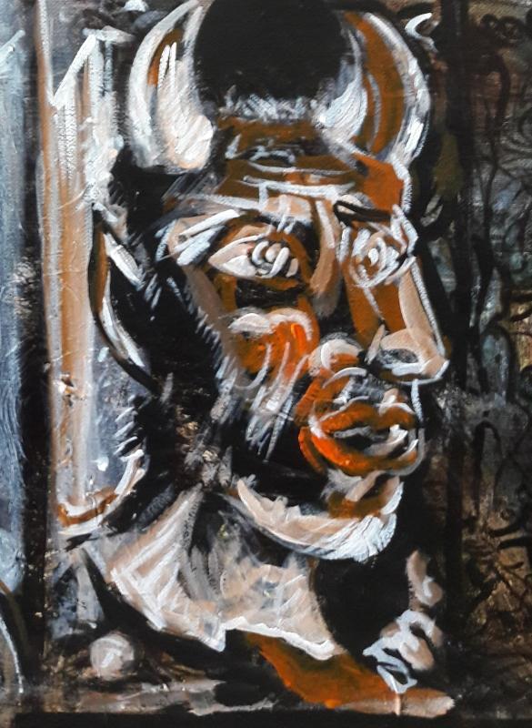 TABLEAU PEINTURE njh huy tfe re - étude d'après Picasso ..