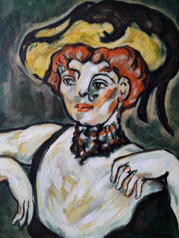 "TABLEAU PEINTURE Sam KEUSSEYAN Sam 63 Sam Sam KEUSSEYAN b - "" Étude d'après Picasso """