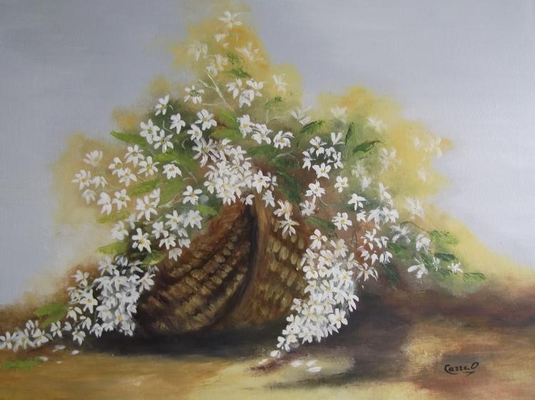 TABLEAU PEINTURE Panier fleuri - Mon panier fleuri