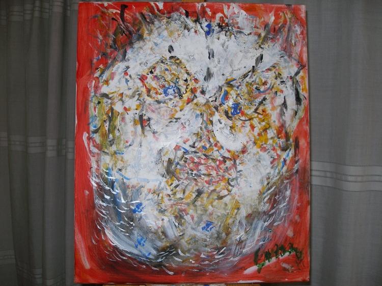 Tableau Peinture Art Guerre Heros Vietnam Peur Abstrait Acrylique Vetnam Heroe
