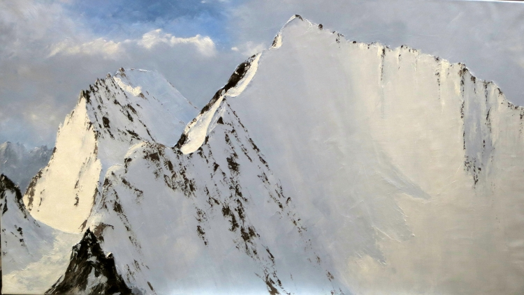 TABLEAU PEINTURE peinture montagne peinture neige neige,glacier - 4293