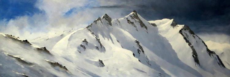 TABLEAU PEINTURE peinture montagne peinture neige neige,glacier - 2685