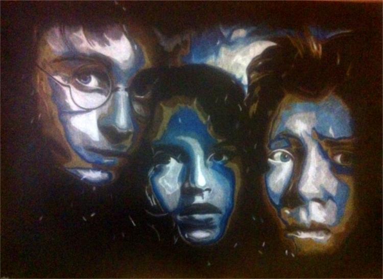 Dessin Harry Potter Poudlard Harmione Granger Sorcier